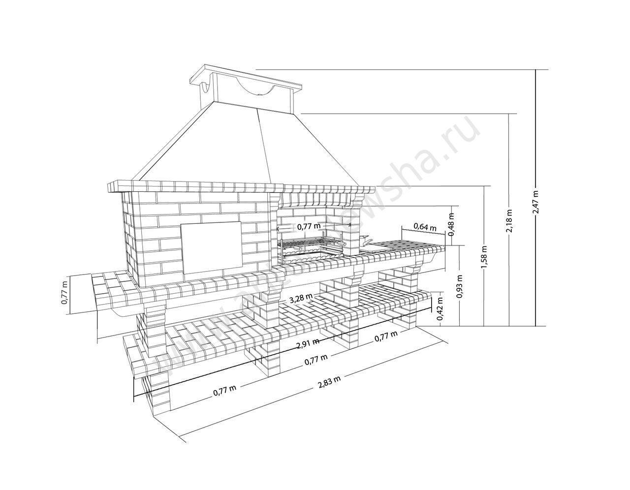 Как построить кирпичную печь 54